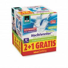 BISON VOCHTVRETER MAGNEET NAVULLING PROMOPACK 3X450 GRAM
