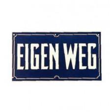 BORD EIGEN WEG 17X10CM