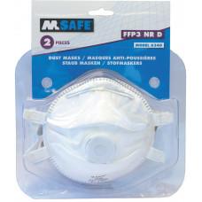 M-SAFE MASKER FFP3 VENTIEL TYPE 6340 2 STUKS
