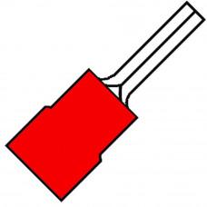 GEISOLEERDE PENSTEKER P12MM VOOR 0,5-1,5 MM² A 1519 SR * . (100 ST)