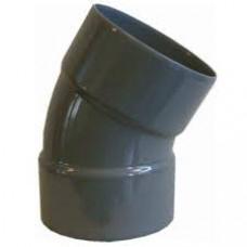 PVC BOCHT 40MM 2X LIJMMOF 45 GRADEN