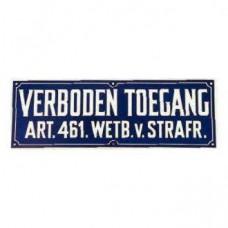 BORD PLASTIC VERBODEN TOEGANG 350X155MM