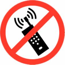 BORD ROND VERBODEN VOOR GSM